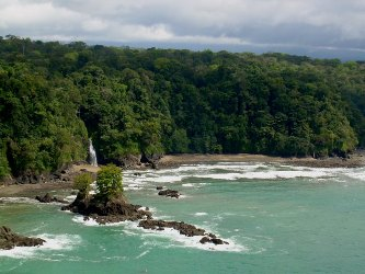 corocovado national park drake bay costa rica waterfall